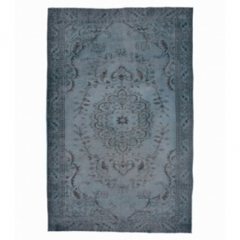 Vintage recoloured rug color donkerblauw (287x164cm)