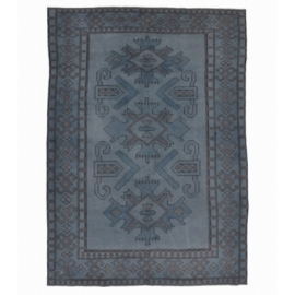 Vintage recoloured rug color grijsblauw (234x172cm)