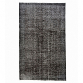 Vintage recoloured rug color black (164x275cm)