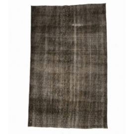 Vintage recoloured rug color brown (168x271cm)