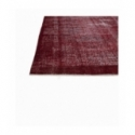 Vintage recoloured rug color red (200x313cm)