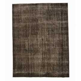 Vintage recoloured rug color brown (195x257cm)