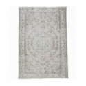 Vintage recoloured rug color beige (173x258cm)