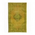 Vintage recoloured rug color yellow (181x296cm)