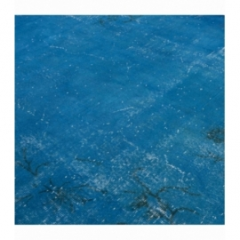 Vintage recoloured rug color turquoise (210x303cm)