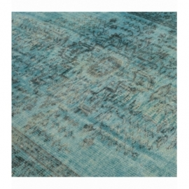 Vintage recoloured rug color turquoise (152x264cm)