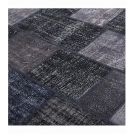 Vintage patchwork rug color black (200x300cm)