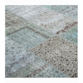 Vintage patchwork rug color turquoise (200x300cm)