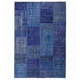 Vintage patchwork rug color blue (200x300cm)
