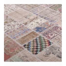 Vintage patchwork rug color antique (200x300cm)