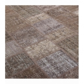 Vintage patchwork rug color brown (200x300cm)