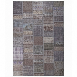 Vintage patchwork rug color dark grey (200x300cm)