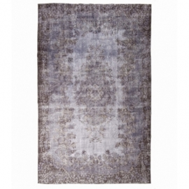 Vintage recoloured rug color grey (180x293cm)