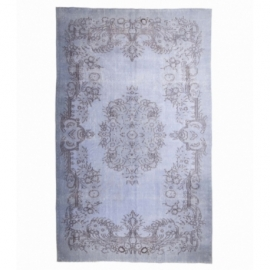 Vintage recoloured rug color blue (180x300cm)