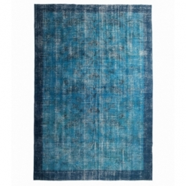 Vintage recoloured rug color turquoise (200x305cm)