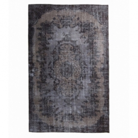 Vintage recoloured rug color brown (170x266cm)