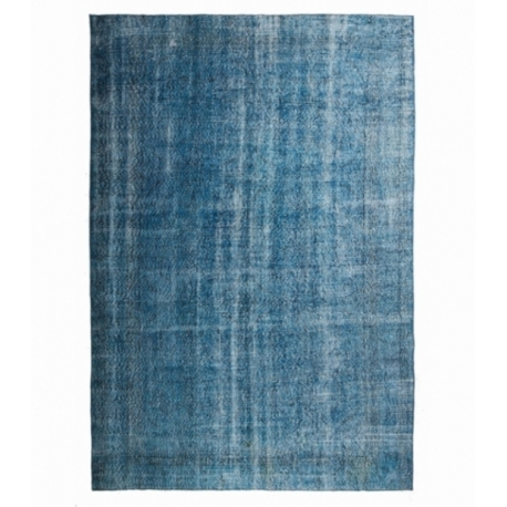 Vintage recoloured rug color turquoise (204x300cm)