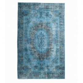 Vintage recoloured rug color turquoise (170x280cm)