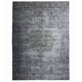 Vintage recoloured rug color grey (230x234cm)