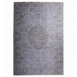 Vintage recoloured rug color grey (208x306cm)