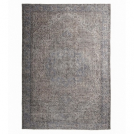 Vintage recoloured rug color grey (198x290cm)