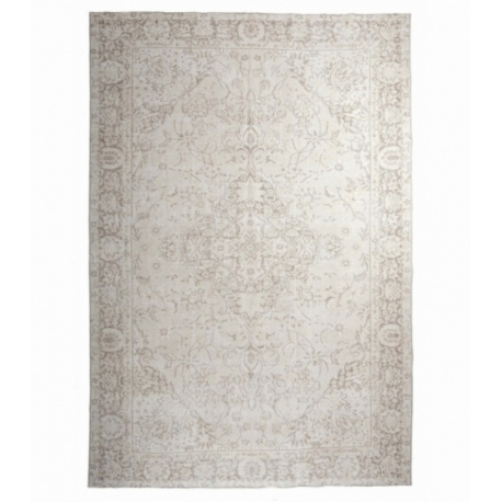 Vintage recoloured rug color whitewash (219x330cm)