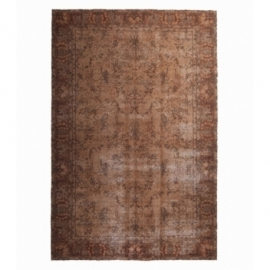 Vintage recoloured rug color brown (193x293cm)