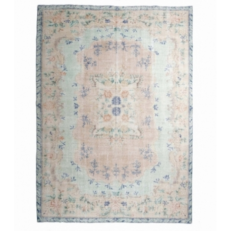 Vintage recoloured carpets kleur green blue (196x274cm)