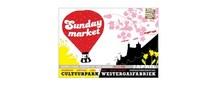 Sunday Market op 7 april bij de Westergasfabriek
